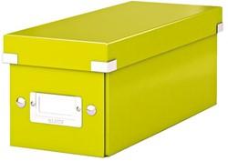 Cd box Leitz WOW Click & Store 143x136x352mm groen