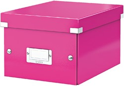 Opbergbox Leitz WOW Click & Store 200x148x250mm roze