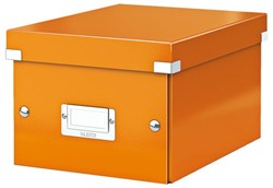 Opbergbox Leitz WOW Click & Store 200x148x250mm oranje