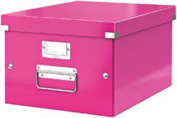 Opbergbox Leitz WOW Click & Store 281x200x370mm roze