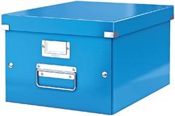 Opbergbox Leitz WOW Click & Store 281x200x370mm blauw