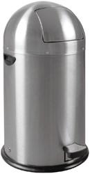 Afvalbak Kickcan metalen binnenbak 33liter mat chroom