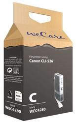 Inkcartridge Wecare Canon CLI-526 zwart