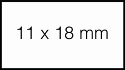 Prijsetiket 11x18mm Sato PB1 afneembaar wit