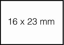 Prijsetiket 16x23mm Sato Duo 20 afneembaar wit