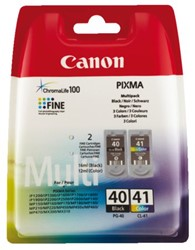 Inkcartridge Canon PG-40 + CL-41 zwart + kleur