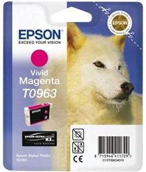 Inkcartridge Epson T0963 rood