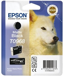 Inkcartridge Epson T0968 mat zwart