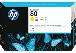 Inkcartridge HP C4873A 80 geel
