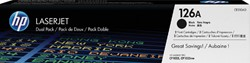 Tonercartridge HP CE310AD 126A zwart 2x