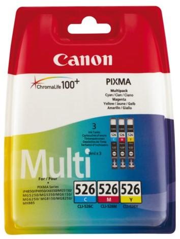 Inkcartridge Canon CLI-526 3 kleuren