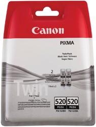 Inktcartridge Canon PGI-520 zwart 2x