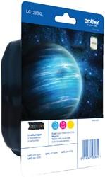 Inktcartridge Brother LC-1280XLRBWBP 3 kleuren HC