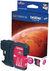 Inktcartridge Brother LC-1100HYM rood HC