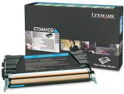 Tonercartridge Lexmark C734A1CG prebate blauw
