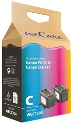Inkcartridge Wecare Canon PG-510 CL-511 zwart + kleur