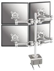 Flatscreenarm Newstar D1030D4 4 schermen zilver