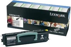 Tonercartridge Lexmark X203A11G prebate zwart