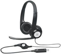Headset Logitech H390 On Ear zwart