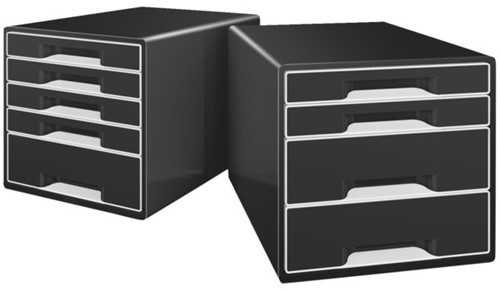 Ladenblok Leitz 5252 Cube 4 laden zwart-2