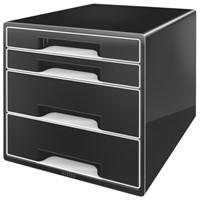 Ladenblok Leitz 5252 Cube 4 laden zwart-1