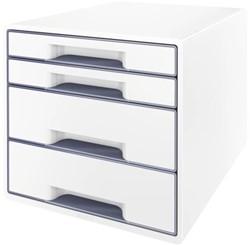 Ladenbox Leitz 5213 WOW 4 laden wit/grijs