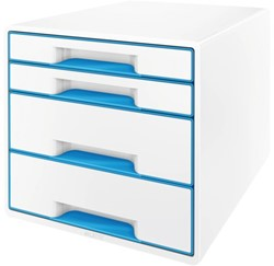 Ladenbox Leitz 5213 WOW 4 laden wit/blauw