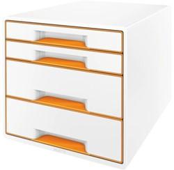 Ladenbox Leitz 5213 WOW 4 laden wit/oranje