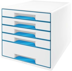 Ladenbox Leitz 5214 WOW 5 laden wit/blauw