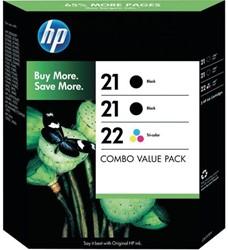 Inkcartridge HP SD400AE 21+ 21 zwart 2x + kleur