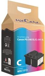 Inkcartridge Wecare Canon PG-540XL CL-541XL zwart + kleur