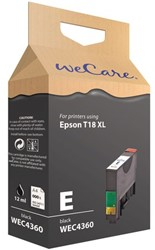 Inkcartridge Wecare Epson T181140 zwart HC