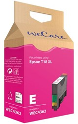 Inkcartridge Wecare Epson T181340 rood HC