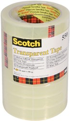 Plakband Scotch 550 19mmx66m transparant