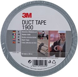 Plakband 3M 1900 Duct Tape 50mmx50m zilver