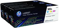 Tonercartridge HP CF370AM 305A 3 kleuren