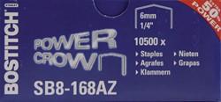 Nieten Bostitch B8 staal SB8 6mm gebogen rug 1050stuks
