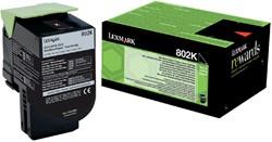 Tonercartridge Lexmark 80C20K0 prebate zwart