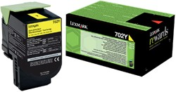 Tonercartridge Lexmark 70C20Y0 prebate geel