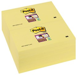 Memoblok 3M Post-it 655-SSY Super Sticky 76x127mm geel