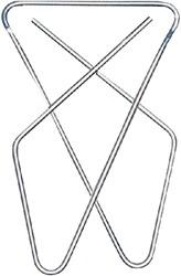 Vlinderclip LPC vernikkeld 57x50mm 50stuks