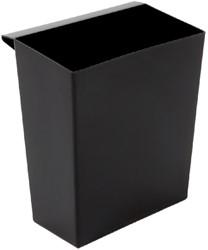 Inzetbak voor vierkante tapse papierbak zwart