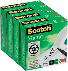 Plakband Scotch Magic 810 19mmx33m onzichtbaar mat
