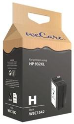 Inkcartridge Wecare HP CN053AE 932XL zwart HC