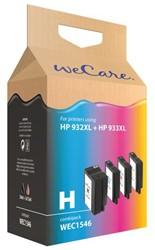 Inkcartridge Wecare HP C2P42AE 932XL zwart + 3 kleuren HC