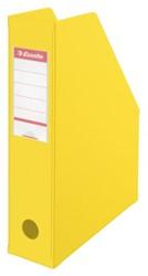 Tijdschriftcassette Esselte Vivida opvouwbaar geel