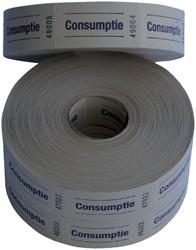 Consumptiebon Combicraft 57x30mm 2-zijdig 2x1000 stuks geel
