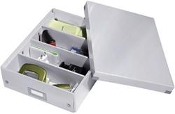 Sorteerbox Leitz WOW Click & Store 280x100x370mm wit