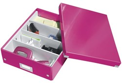 Opbergbox Leitz WOW Click & Store 280x100x370mm roze