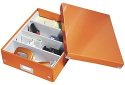 Opbergbox Leitz WOW Click & Store 280x100x370mm oranje